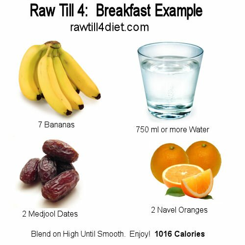 Raw till 4 raw till 4 is a vegan lifestyle heavy on fruit and raw till 4 breakfast day 1 forumfinder Images