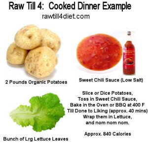 Cooked Dinner idea Raw Till 4