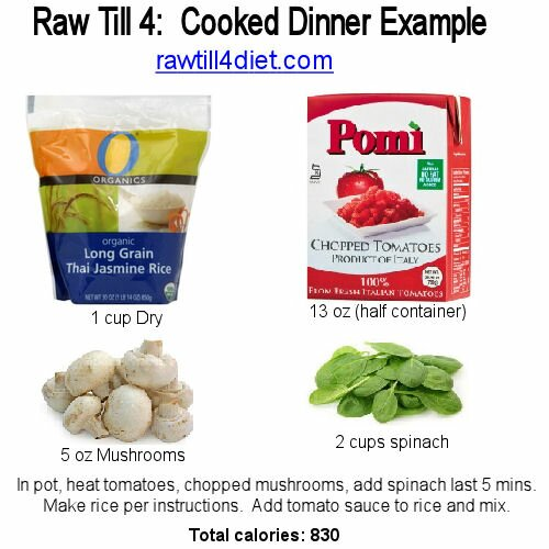 rice and tomato raw till 4 cooked dinner
