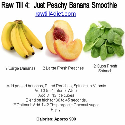 banana peach smoothie raw till 4 meal